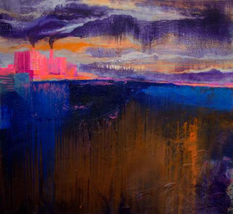 """""""The sky is crying"""" by Vartan Markarian – 120x110cm 2016"""