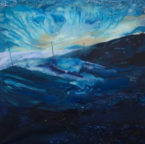 """Arable land"" by Vartan Markarian – 120x120cm 2015"