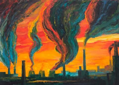 """City"" by Vartan Markarian – 140x110cm 2015"