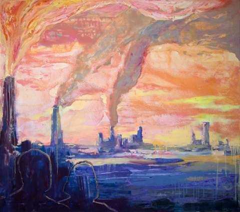 "Вартан Маркар'ян – ""Кремове небо"", 100х90см 2017"