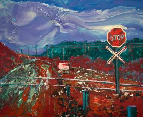 """Stop"" by Vartan Markarian – 140x120cm 2017"