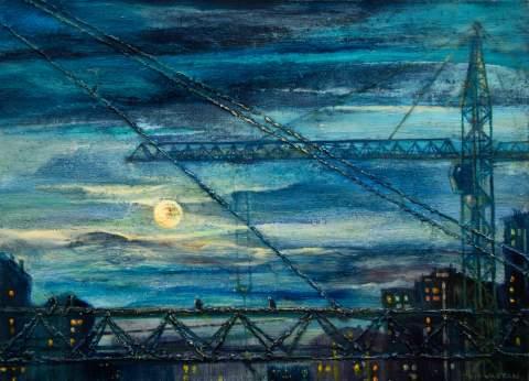 """The city will soon fall asleep"" by Vartan Markarian – 120x90cm 2015"