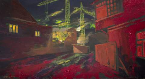 """The courtyard fell asleep"" by Vartan Markarian – 100x60cm 2013"