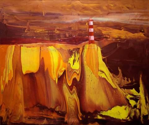 """""""The flame"""" by Vartan Markarian – 140x120cm 2017"""