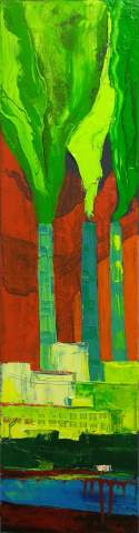 """Three poplars"" by Vartan Markarian – 20x80cm 2016"