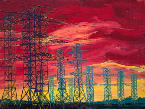 """Under highvoltage"" by Vartan Markarian – 130x100cm 2015"