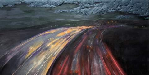 """Under the clouds"" by Vartan Markarian – 240x120cm 2016"