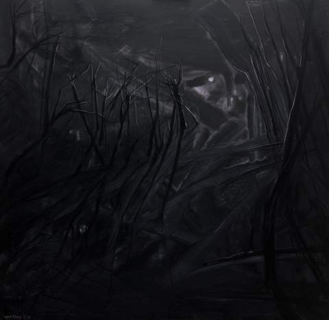 """Through the desolate thickets, they roam under the moon"" by Vartan Markarian – 120x120cm 2018"
