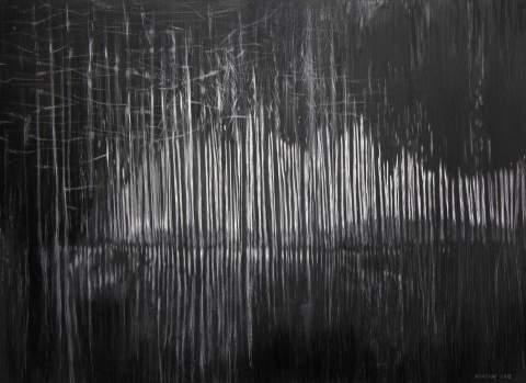 """Hyper jump in a stripe."" by Vartan Markarian – 100x100cm 2017"
